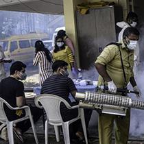 印度新冠确诊病例超600万单日新增有所下降
