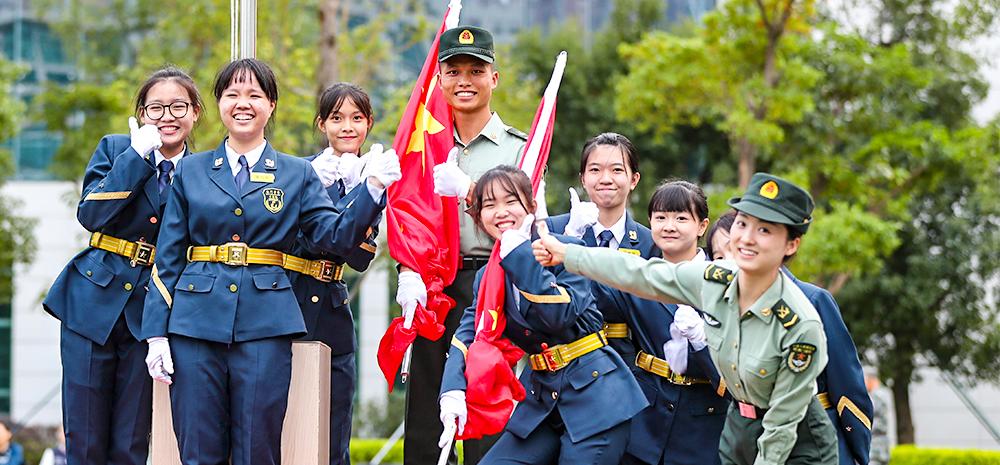 解放军驻澳门部队重启青年学生国旗手培训活动