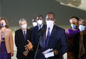 ประธานาธิบดีเซเนกัลจัดพิธีต้อนรับวัคซีนต้านโควิดของจีน