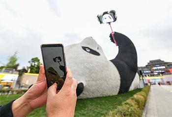 ượng gấu trúc tự sướng nặng 130 tấn ở Trung Quốc