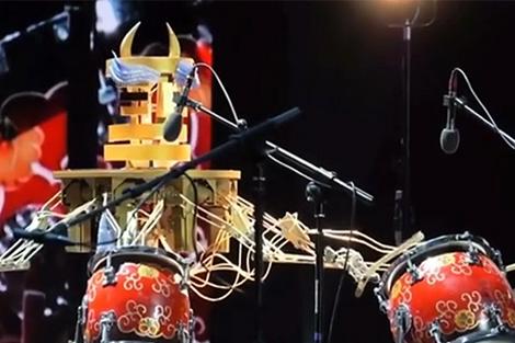 Rô bốt hòa tấu nhạc cụ dân tộc Trung Quốc