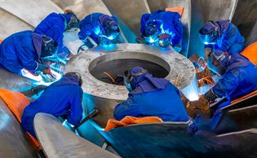 """百万千瓦机组 16台精品""""心脏"""" 白鹤滩水电站转轮加工制造全部完成"""