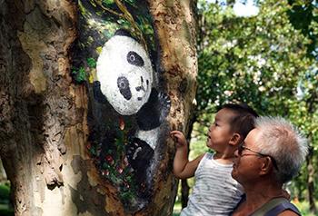 ไอเดียสร้างสรรค์ระบายโพรงต้นไม้ในสวนเซี่ยงไฮ้
