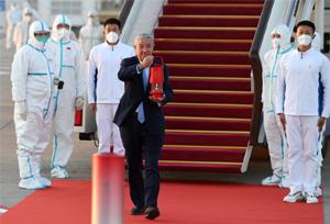 เปลวไฟงานโอลิมปิกฤดูหนาวปักกิ่งเดินทางมาถึงกรุงปักกิ่งแล้ว