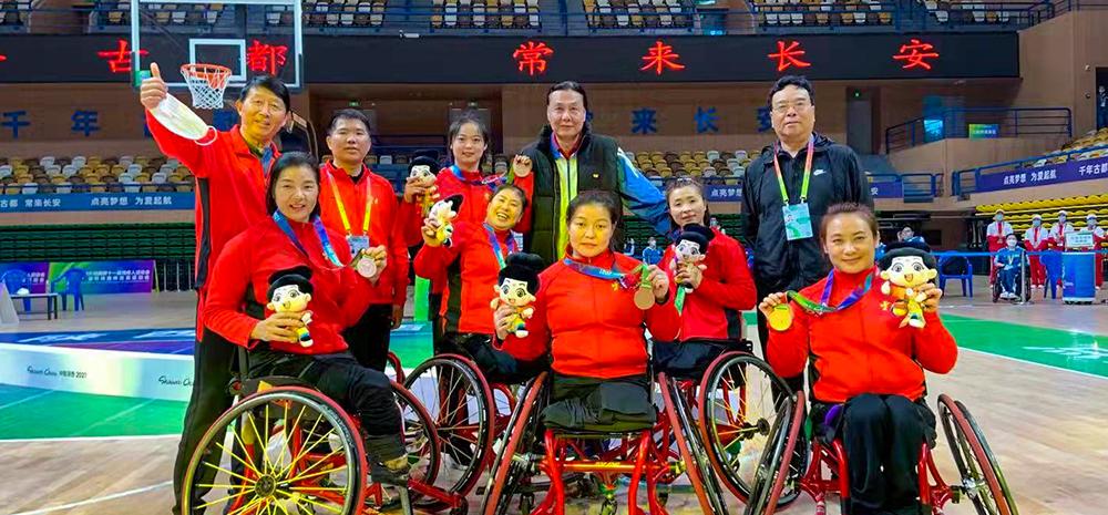 云南女子轮椅篮球队摘铜