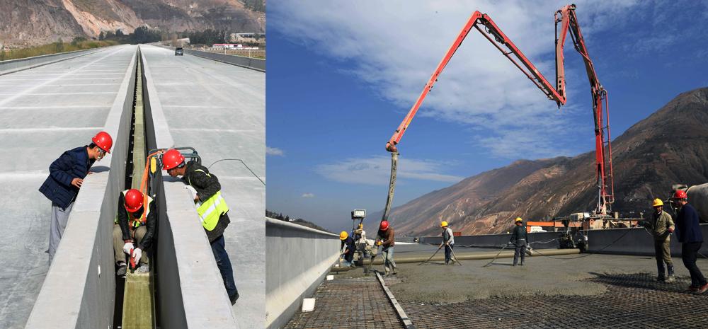 云南东格高速公路建设的筑路先锋