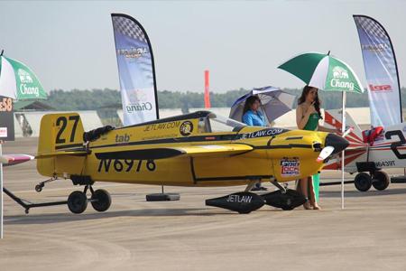 泰国举办世界杯特技飞行比赛