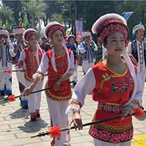 云南民族村白族绕三灵民俗活动欢乐开幕