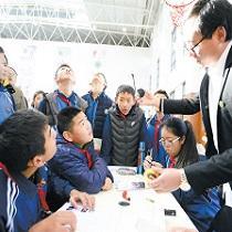 昆明官渡区北京八十学校数百孩子尽享科普盛宴
