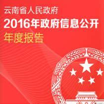 云南2016年政府信息公开工作年报