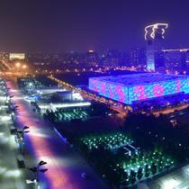 """亚洲文明大会的空间光影秀""""迎盛会"""