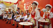 Artists perform to celebrate Chinese New Year in Myanmar