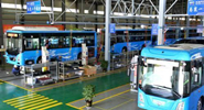 200 hydrogen-powered buses roll off assembly line in Yunnan