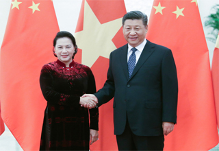 ปธน.จีนพบปะกับประธานสภาแห่งชาติเวียดนาม