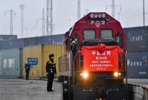 รถไฟสินค้าจีน-ยุโรป วิ่งจากอูรุมชีของซินเจียง ครบ 2,000 เที่ยวแล้ว