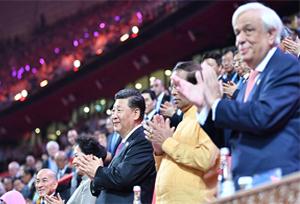ปธน.จีนพร้อมภริยา-ผู้นำต่างชาติพร้อมคู่สมรสชมงานคาร์นิวัลอารยธรรมเอเชีย