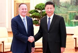 ปธน.จีนพบกับอดีตนายกฯ นิวซีแลนด์