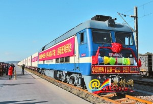 ขบวนรถไฟจีน-ยุโรปของยูนนานสร้างรายได้ที่ดีมากปริมาณการขนส่งเพิ่มขึ้นจากปีก่อน 200%