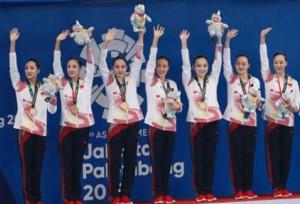 นักกีฬาจีนคว้าเหรียญทองกีฬาระบำใต้น้ำในเอเชียนเกมส์