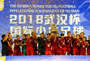 ทีมไทย ยู-14 คว้าแชมป์ในการแข่งขันฟุตบอลเยาวชนนานาชาติอู่ฮั่น-จีน