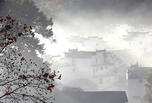 เมืองอู้หยวนในช่วงต้นฤดูหนาว